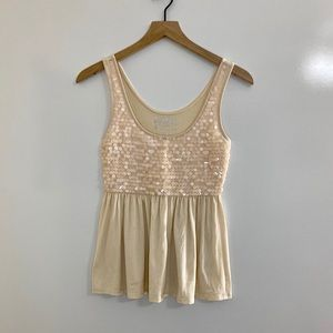 Decree Flowy Sequin Tank Top Size Small
